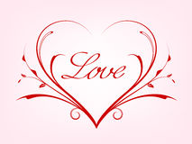 Valentines card with line heart Stock Photography