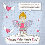 Valentines card with message Royalty Free Stock Photography
