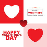 Valentines card modern design Stock Photos
