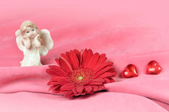 Valentines card in pink color Stock Image