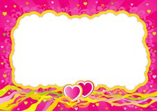 Valentines card at retro style Royalty Free Stock Photo