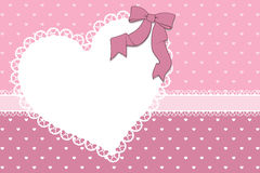 Valentines card scrapbook Royalty Free Stock Images