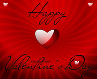 Valentines card with shiny heart Royalty Free Stock Images