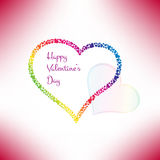 Valentines card with stylish hearts. Vector. Illustration Royalty Free Stock Photos