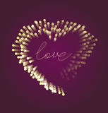 Valentines card with the text love circles Royalty Free Stock Photo