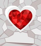 Valentines card. Vector Illustration of a valentines day card Stock Images