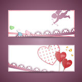 Valentines cards Royalty Free Stock Images
