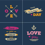 Valentines cards set Royalty Free Stock Image