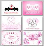Valentines cards Stock Photos