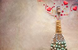 Valentines champagne concept royalty free stock image