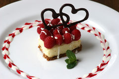Valentines Cheesecake Stock Images