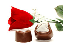 Valentines Chocolates Stock Photography