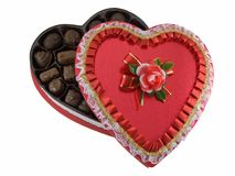 Valentines chocolates box Stock Photography