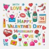 Valentines clip art Stock Images