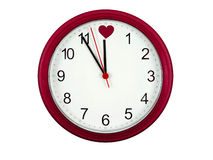 Valentines clock Stock Photos