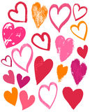 Valentines coeur, vecteur de dessin de main illustration de vecteur