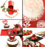 Valentines collage Stock Photo