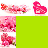 Valentines collage. Collage of different images for valentine's day stock images