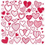 Valentines Collection of Red Heart icons illustration-vector vector illustration
