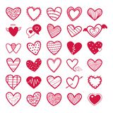 Valentines Collection of Red Heart icons illustration- royalty free illustration