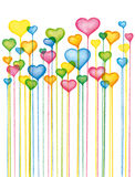 Valentines Colorful Hearts Background Royalty Free Stock Image