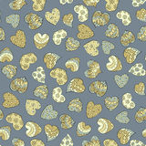 Valentines colorful hearts seamless pattern. Stock Photo