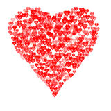 Valentines composition of the hearts. Vector illustration Royalty Free Stock Photos