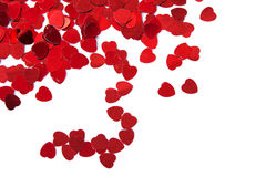 Valentines composition of the hearts. Stock Image