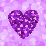 Valentines composition of the hearts Royalty Free Stock Photo