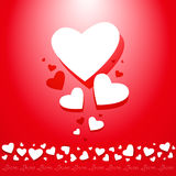 Valentines composition of the hearts with space fo Royalty Free Stock Image
