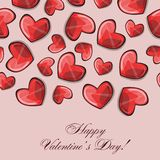 Valentines composition of the hearts. Vector Stock Image