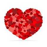 Valentines composition of the hearts. Vector illustration. Royalty Free Stock Images
