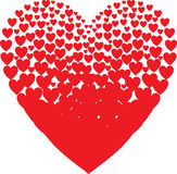 Valentines composition of the hearts. Vector Royalty Free Stock Images