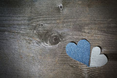 Valentines concept card. Made on wood Stock Photo