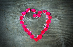 Valentines concept heart made with flowers Royalty Free Stock Photography