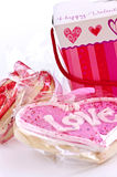 Valentines cookies Royalty Free Stock Photos