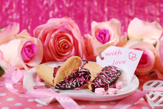 Valentines cookies in heart shape Stock Photo
