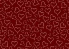 valentines Corazones Rojo Fondo blanco vario ilustración del vector