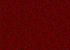 valentines Corazones Rojo Fondo negro vario stock de ilustración