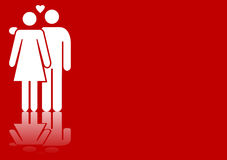Valentines couple Royalty Free Stock Photos