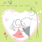 Valentines couple meet on a date Royalty Free Stock Image