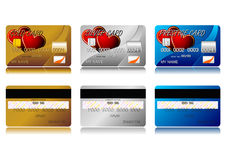 Valentines credit cards Stock Photos