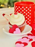 Valentines cupcake Stock Photos