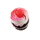 Valentines Cupcake. Isolated on a white background Royalty Free Stock Images
