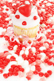 Valentines cupcake Stock Images