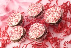 Valentines Cupcakes Stock Photo