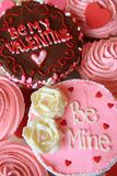 Valentines cupcakes stock images