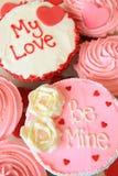 Valentines cupcakes Stock Photos