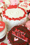 Valentines cupcakes Stock Photography