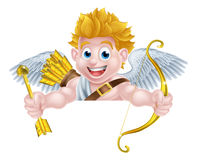 Valentines Cupid Cartoon Stock Image